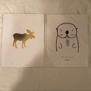 Other - Artisanal Prints for children's room 8x10 - 2 NEW